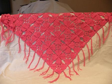 Ажурная шаль в подарок своими руками